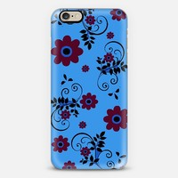 red and blue flower 2781 iPhone 6 case by Christy Leigh | Casetify
