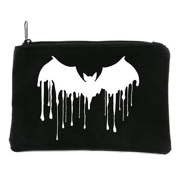Vampire Bat Drip Melting Cosmetic Makeup Bag Pouch Alternative Gothic Accessories