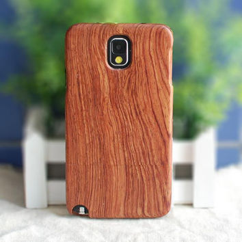 S6 Genuine Solid Wood Case for Samsung Note4 Note3 Note2 S5 S4 S3 Natural Handcrafted Real Wood True Hardwoods Cover Cherry Bamboo MOQ:1PCS
