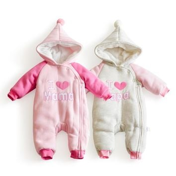 6-24M winter warm baby girl clothes wing thicken Fleece girls winter clothing infant snow wear newborn Snowsuit toddlers costume