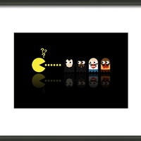 Pacman Pulp Fiction Framed Print