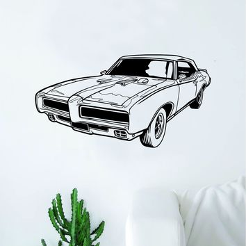Classic Car Decal Sticker Bedroom Living Room Wall Vinyl Art Home Decor Teen Nursery Vintage Man Cave Auto