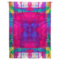 Carnival Daze Hanging Wall Tapestry. Dorm Decor, Abstract Painting, Modern Art Large Wall, Apartment Decor, Tie-Dye Wall Art, Headboard Art