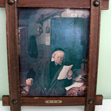 Adriaen Van Ostade Lawyer In His Study Framed Premium Canvas Print, Vintage Prints, Collectible Painting, Wall Decor