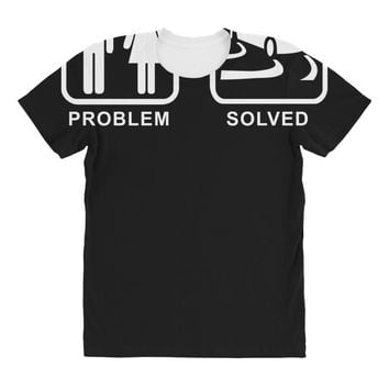 drifting   problem solved mens funny All Over Women's T-shirt