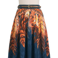 Indigo Swirls Skirt | Mod Retro Vintage Skirts | ModCloth.com