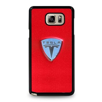 TESLA MOTOR LOGO Samsung Galaxy Note 5 Case Cover