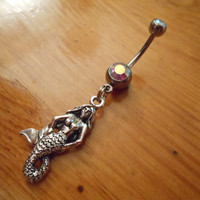 Belly button ring  Mermaid Belly Button Ring by ChelseaJewels