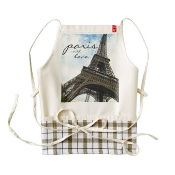 Paris with Love II Zazzle HEART Apron
