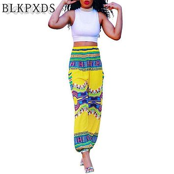 10 Colors Dashiki  Summer Loose African Bohemia Harem Pants Dress Sexy Print   Women Trousers Vintage Ankara  KUZI