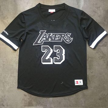Mitchell & Ness Lakers 23 LeBron James Short Sleeve Jersey