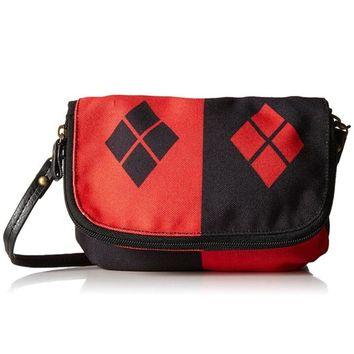 Movie Suicide Squad Cosplay Costume Props Harley Quinn Single-Shoulder Bag Messenger Bag