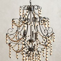 Wooden Sidi Chandelier by Anthropologie in Black & White Size: One Size Lighting