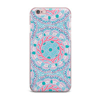 "Miranda Mol ""Prismatic White"" Blue Pink Abstract iPhone Case"
