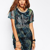 adidas Originals Hawaii Mesh Dress at asos.com