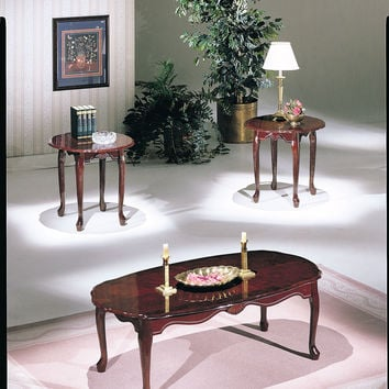 Acme Essex 3Pc Pack Coffee/End Table Set , Cherry