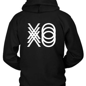 ESBH9S The Weeknd Xo Triple Hoodie Two Sided