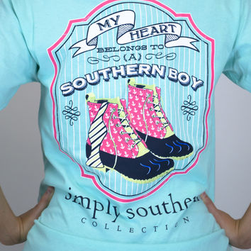 Heart Belongs Simply Southern Tee
