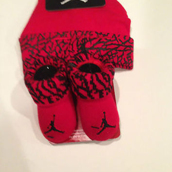 NIB NIKE AIR JORDAN Baby Infant Boys Hat Shoes Booties Socks 0-6 M Newborn NEW