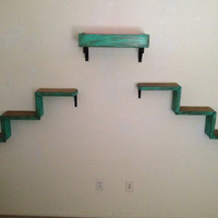 Set of Three | Two Cat Stairs | One Cat Bed | Cat Wall Shelves | Cat Walkways | Cat Perch