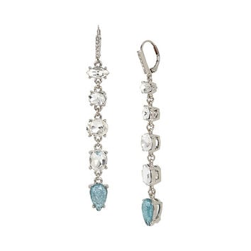 BLUE LA LA LINEAR EARRINGS: Betsey Johnson