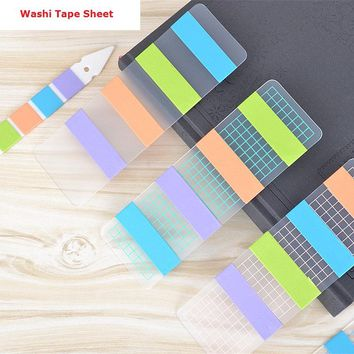 NEW!! 6pcs/lot Portable Grid PVC Board Washi Tape Sheet Subpackage Plate Tape Package Aliquot board Planner Tools