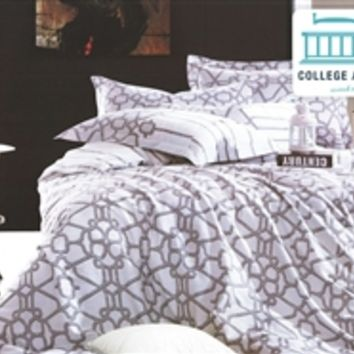Latticework Twin XL Comforter Set - College Ave Designer Series Twin XL Comforters For Girls