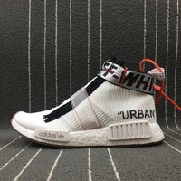 Adidas Nmd Boost Off-White x Adidas Originals Nmd City Sock Women Men Fashion Trending Running Sports Shoes