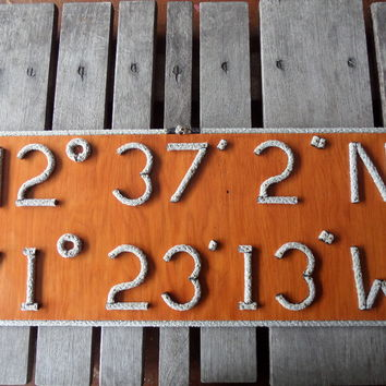 how to make a longitude latitude sign