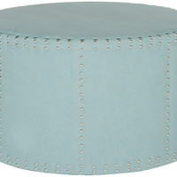 Cheryl Ottoman, Light Blue, Ottomans