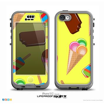 The 3d Icecream Treat Collage Skin for the iPhone 5c nüüd LifeProof Case