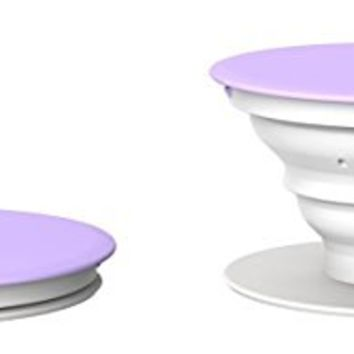 PopSockets: Expanding Phone Stand and Grip - Works with all Smartphones Including iPhone and Galaxy (Single PopSocket, Purple-White-White)