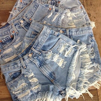 Distressed Medium Five for 50-55 Shorts