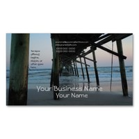 Under The Pier - Oak Island, NC Double-Sided Standard Business Cards (Pack Of 100)
