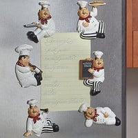 Set of 6 Chef Kitchen Magnets Fat Chef Fridge Magnets Hang Pictures & Recipes