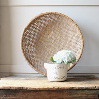 Vintage Wicker Basket Wall Hanging