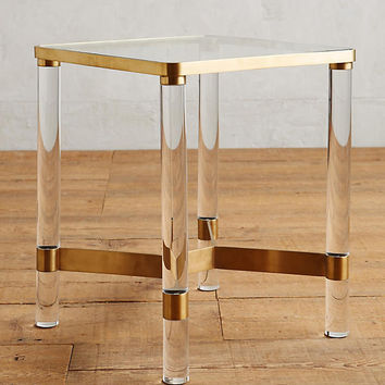 Oscarine Lucite End Table
