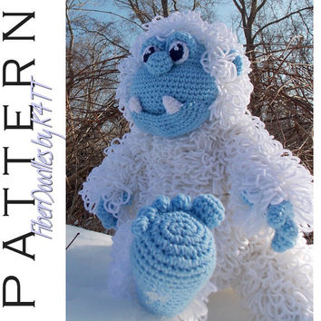 INSTANT DOWNLOAD : Yasuo the Yeti Crochet Pattern