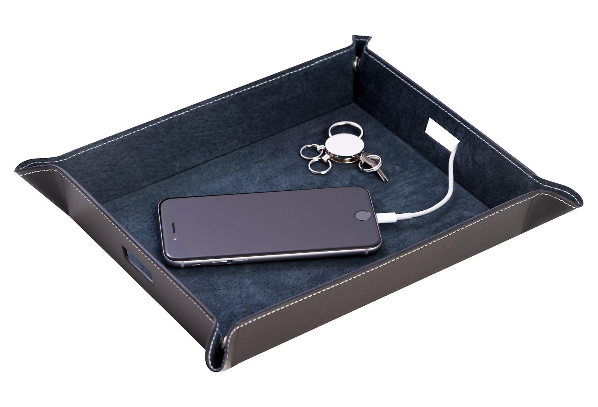 Leather Valet Tray Black Other Jewelry From One Kings Lane