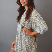 Free Spirit Printed Tunic Cream