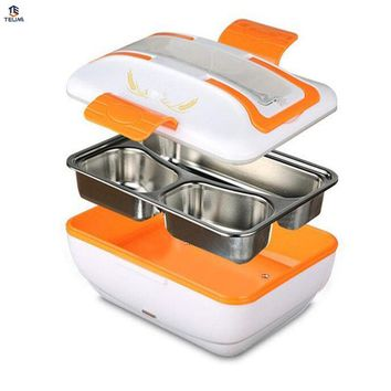 12V Heated Food Containers For Car 45w Gift Dinnerware Set with Compartments 304 stainess steel Food Container.