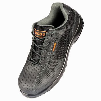Saicou Men's Steel Toe Work Safety Shoes Breathable Oil Resistant Protective Working B