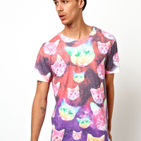 Hype Cat T-Shirt With All Over Print