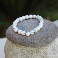 Howlite Crystal Bracelet w/Choice of Charm