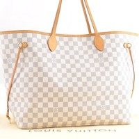 Authentic Louis Vuitton DamierAzur Neverfull GM Tote Bag N51108 LV 48286