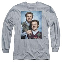 Step Brothers Portrait Long Sleeve Tee in Heather Grey