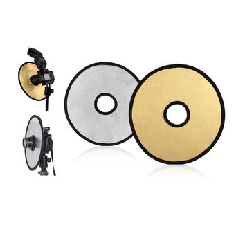 2 in 1 Golden&Silver Collapsible Light Round Photography Hollow Reflector for Studio Photo Camera photography