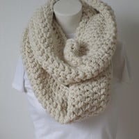 Summer SALES Chunky Infinity Scarf, Oversized Thick and Warm-Aran