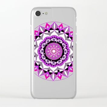 My Love Mandhala | Secret Geometry | Energy Symbols Clear iPhone Case by Azima