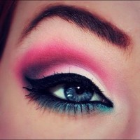 INK361 - Photo - #bright #green #blue #awesome #like #wow #eyeshadow #makeup #fashion #eye #girl #pretty #weheartit #cute #notmine #nofilter ##eye #eyeshadow #eyeliner #pink